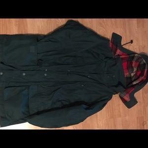 Eddie Bauer wool lined jacket (green)(Medium)
